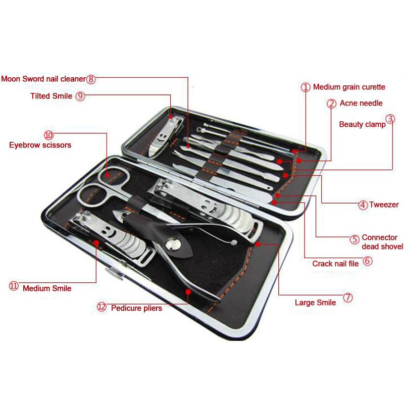 Stainless Steel Nail Clipper Set – 15pcs in leather case – Momentures